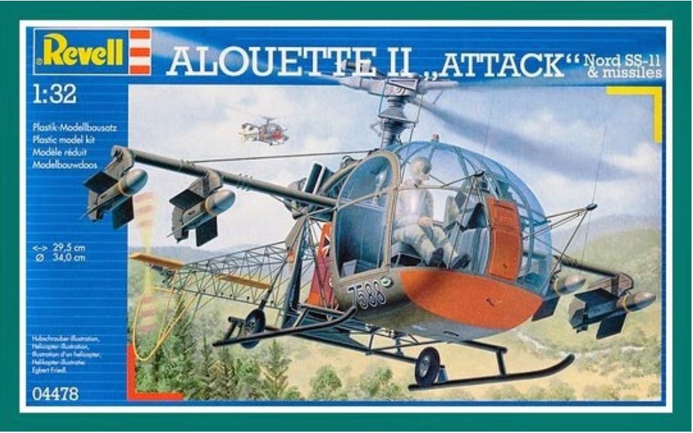 "ALOUETTE II MARINE. Revell 1/32.""Fini"". 022"