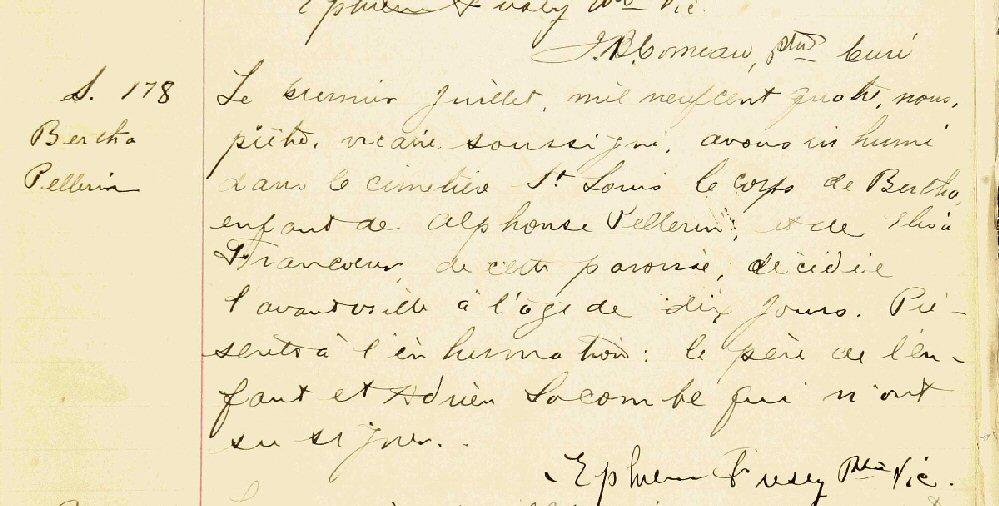 Pellerin,Alphonse et Élisa Francoeur Acte_d22
