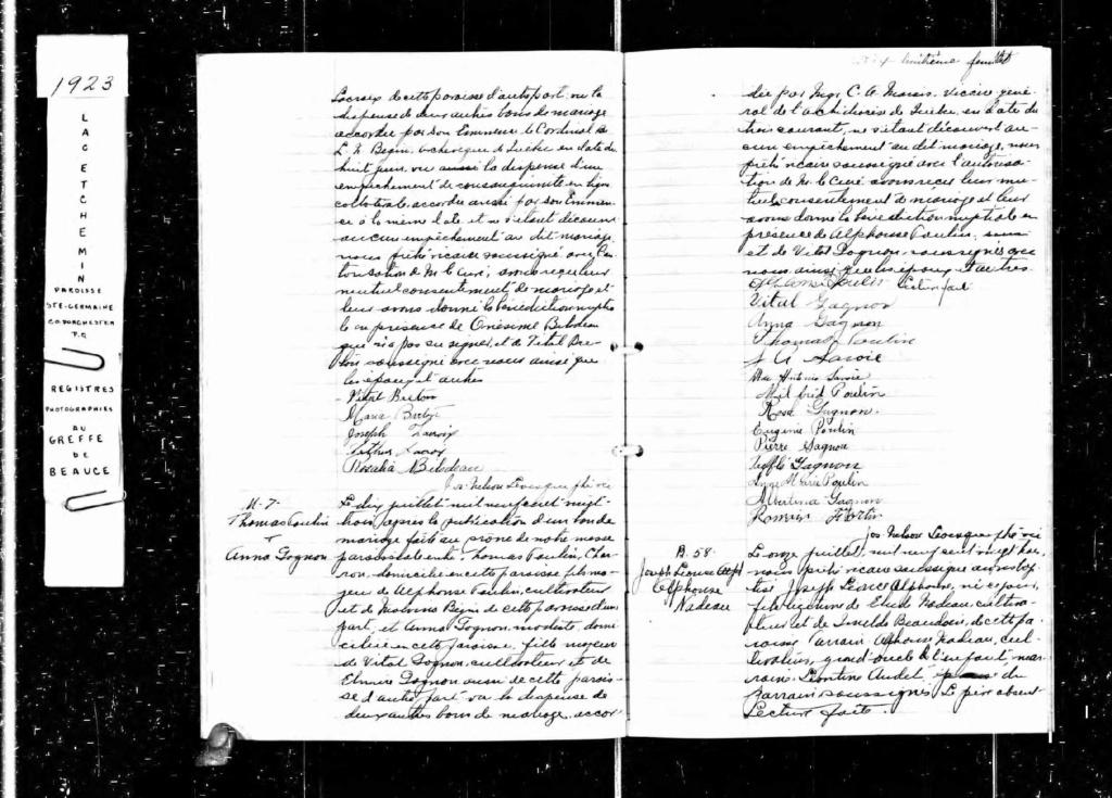 POULIN - Descendance et Ancètres de Thomas POULIN Acte_d94