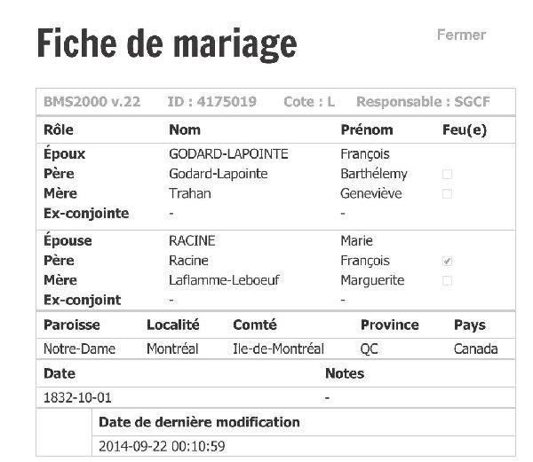 GODARD Dite Lapointe Marie - Recherche Parents Fichie20