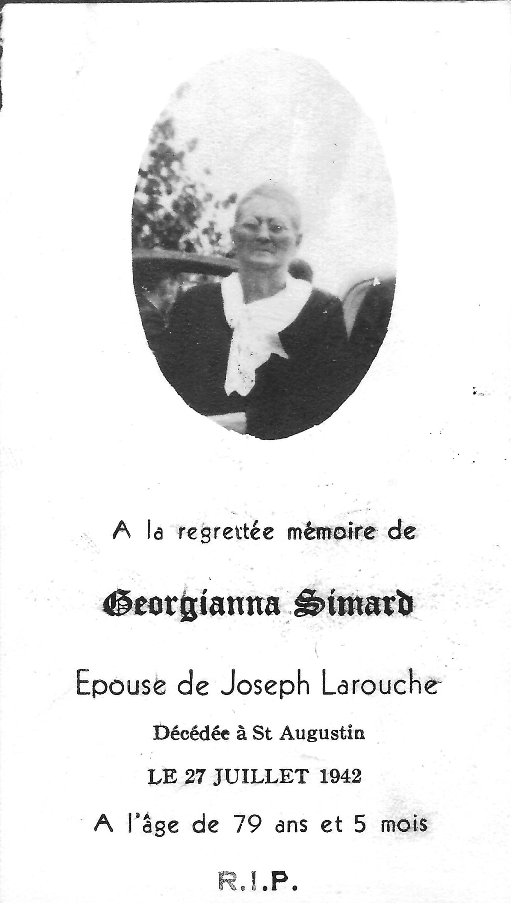 LAROUCHE JOSEPH & SIMARD GEORGIANNA (2 COUPLES MÊME NOMS) Comment identifié a qui appartient les enfants de ces deux couples Georgi10