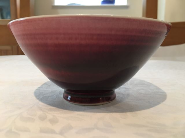 Red porcelain bowl Bp_red11
