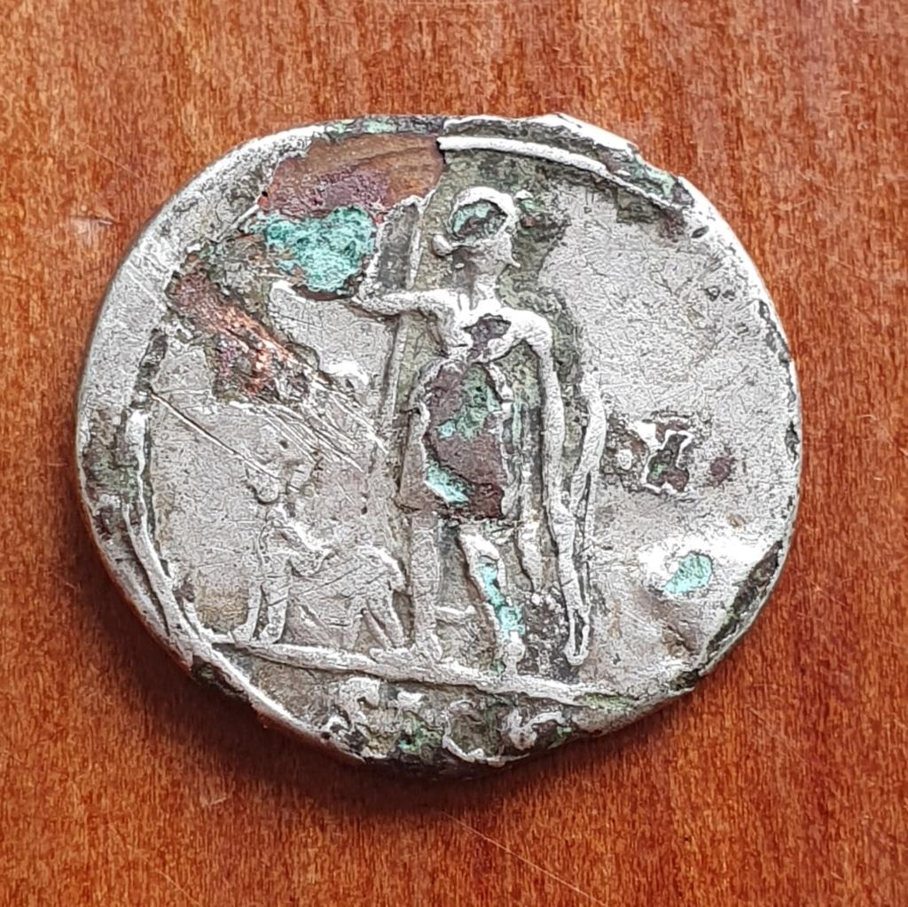 Denario forrado de Augusto. IMP X. Diana con perro. Lyon 20200318