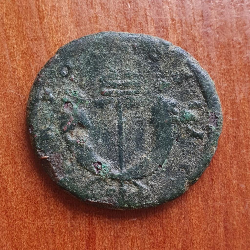 As de Antonino Pío. TR POT COS III - S C. Dos cornucopias cruzadas. Roma. 20200380