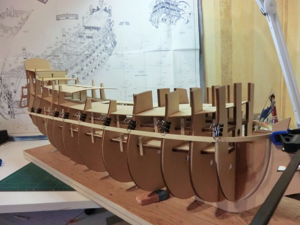 Mon deuxième bateau de Mantua/Sergal,le Soleil royal au 1/77éme de 1693  - Page 2 2012