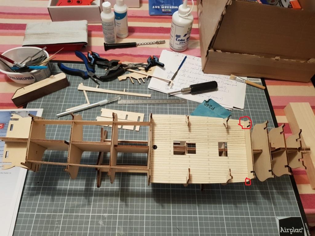 construction de l'hermione de chez Artesania  20191010