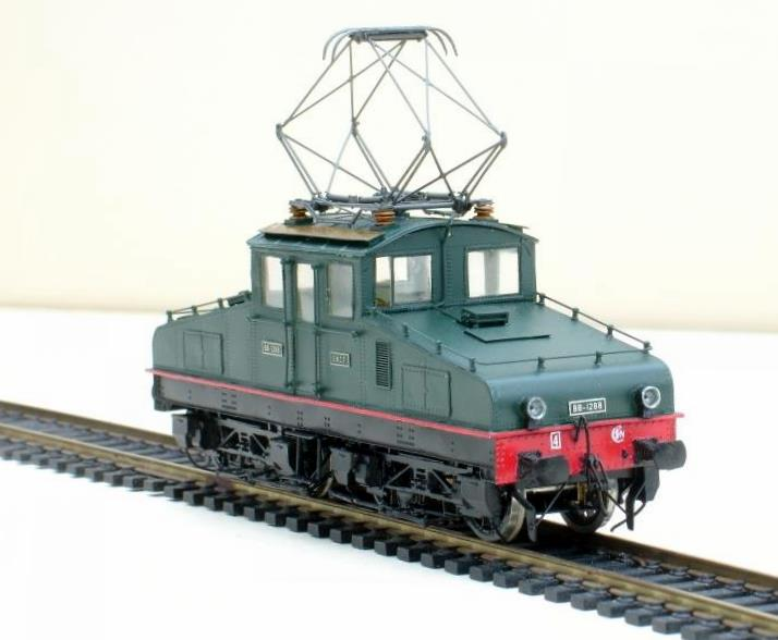 Diorama hivernale - locomotive Crocodile - 1/87 (HO) Bb-12810
