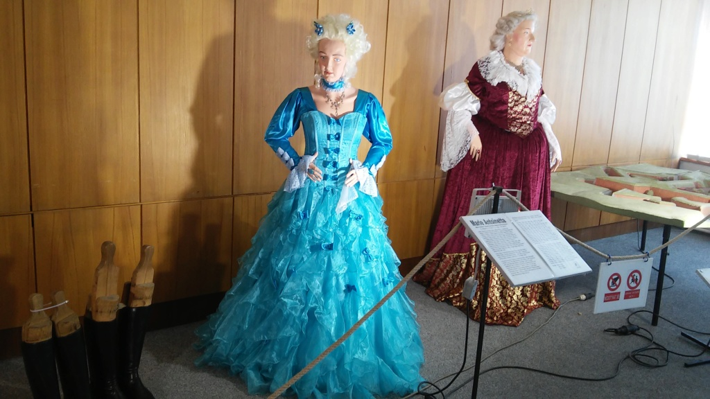 Exposition de figurines historiques Mladá Boleslav en République tchèque. Figurine de Marie Antoinette. 20190421
