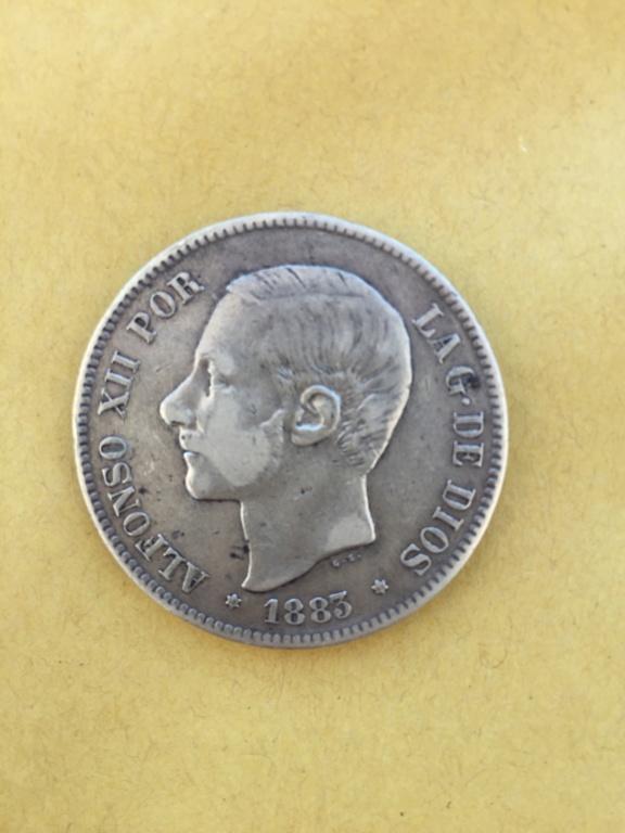 5 pesetas 1883 Alfonso XII 34654610
