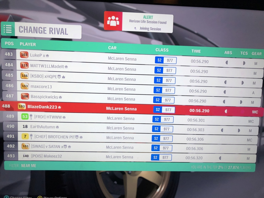 *RESULTS UP* FH4 Time Attack | Monthly Rivals - McLaren Senna 08104710
