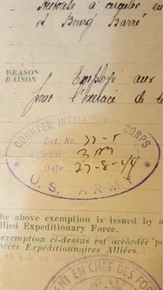 Papier d'une exemption.  20190424