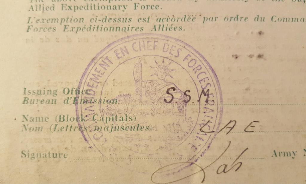 Papier d'une exemption.  20190426