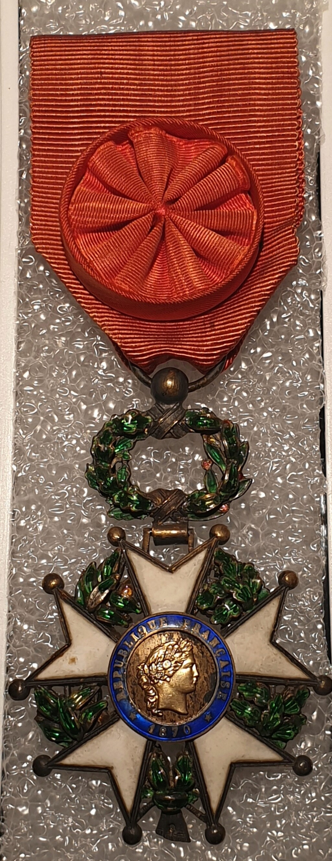 Estimation médaille officier de la légion d'honneur  20201225