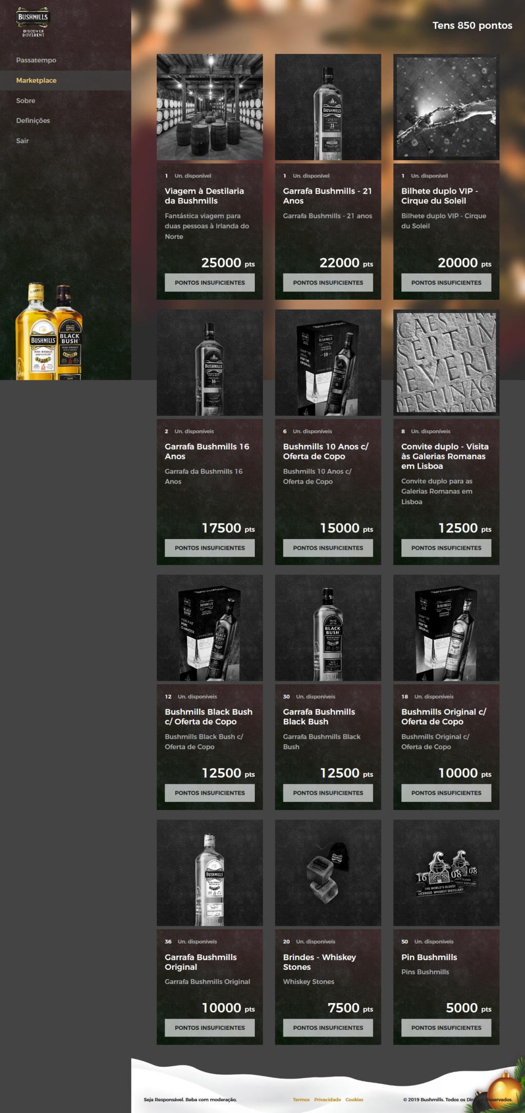 Passatempo BushMilles - Premios: viagem, garrafas etc... Screen12