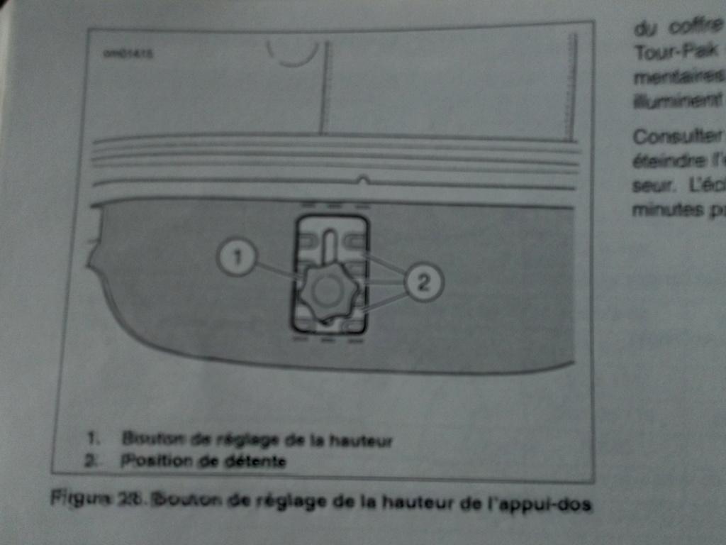 reglage de la hauteur du dosseret passage electra cvo 2010 Harley13
