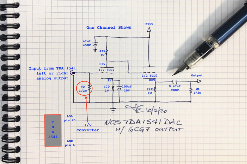 Le DAC TDA1541A de JE Labs 6cg7da11