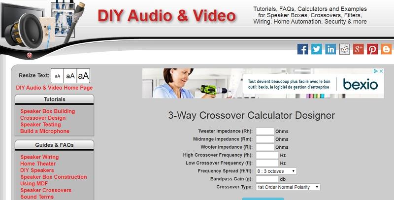 DIY Audio & Vidéo calculators Crosso10