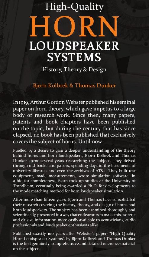 Le livre Horn Loudspeaker systems Image_10