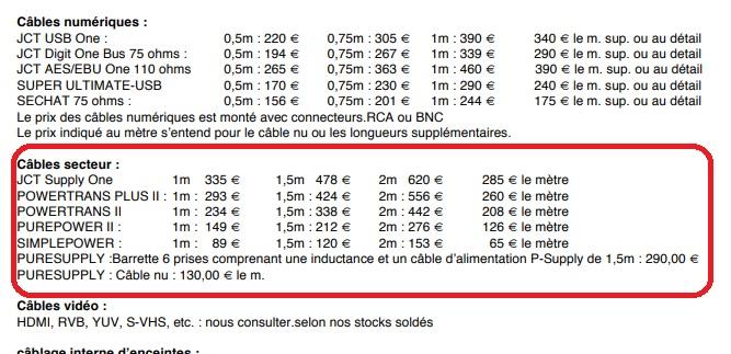 Câbles secteur - source, DAC - Page 2 Power110