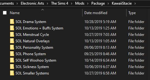 Program for organizing CC. Folder10