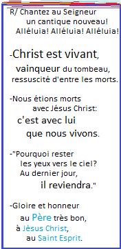 Messes de partout , homélies, exhortation, témoignages... Chante11