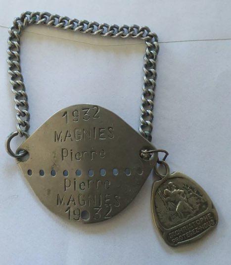 Renseignement Plaque d'identité militaire Française 1932 00d0f610