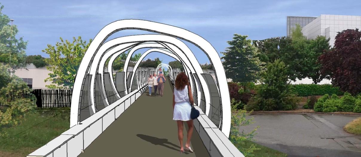 Nouvelle passerelle d'accès Parc - Hôtel du Futuroscope - Page 2 Passer10