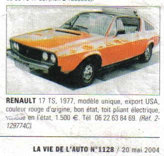 Renault 15 & 17 exotiques (US et autres) R17us10