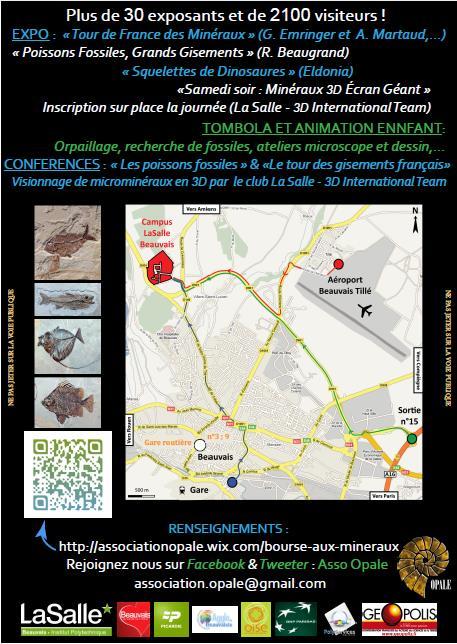 Animations autour des minéraux et fossiles à Beauvais Affich10