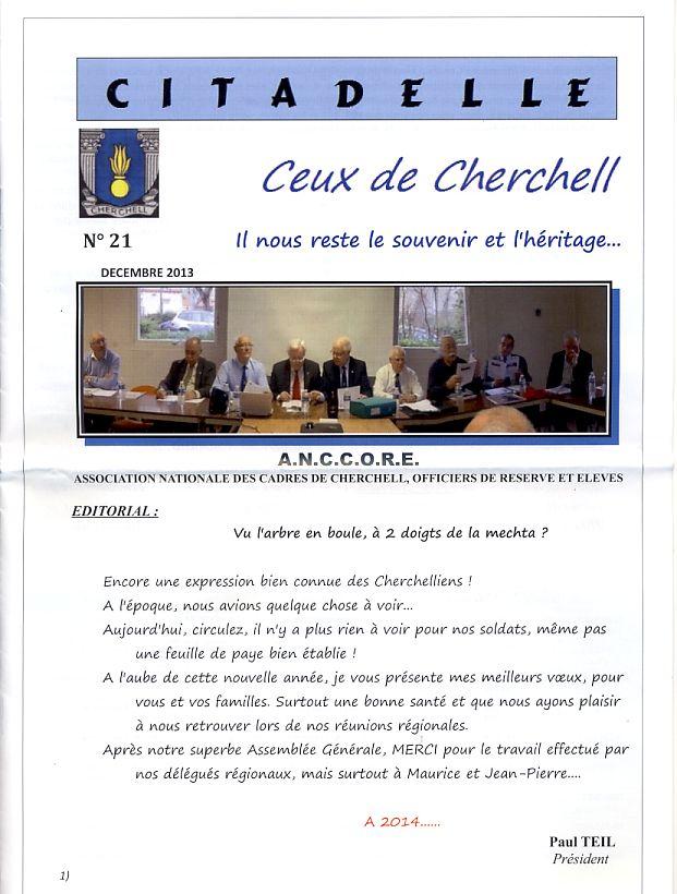 """Bulletin CITADELLE n°21 décembre 2013 """"Il nous reste le souvenir en héritage"""" Citade10"""