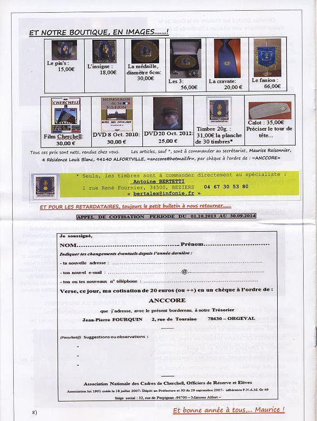 """Bulletin CITADELLE n°21 décembre 2013 """"Il nous reste le souvenir en héritage"""" Citade15"""