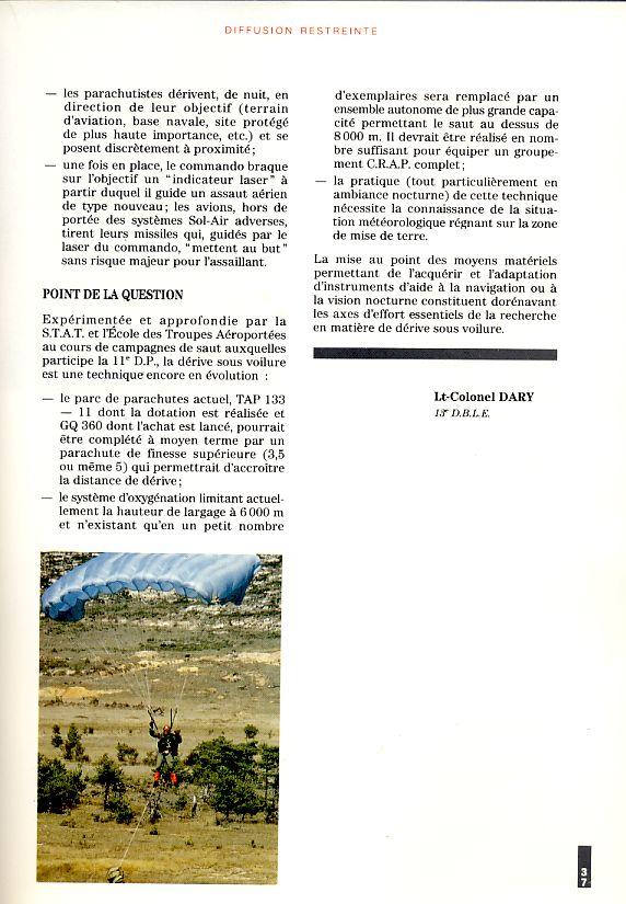 LA DERIVE SOUS VOILURE vu en 1992 par le Lnt-colonel DARY Derive13