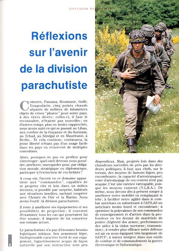 REFLEXION SUR L'AVENIR DE LA DIVISION PARACHUTISTE Divisi11