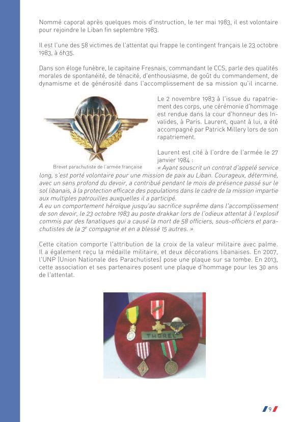 Préfet de la Somme: Hommage au caporal Laurent Thorel et à ses compagnons d'arme à l'occasion du 30ème anniversaire de l'attentat du Drakkar du 23 octobre 1983  Drakka69