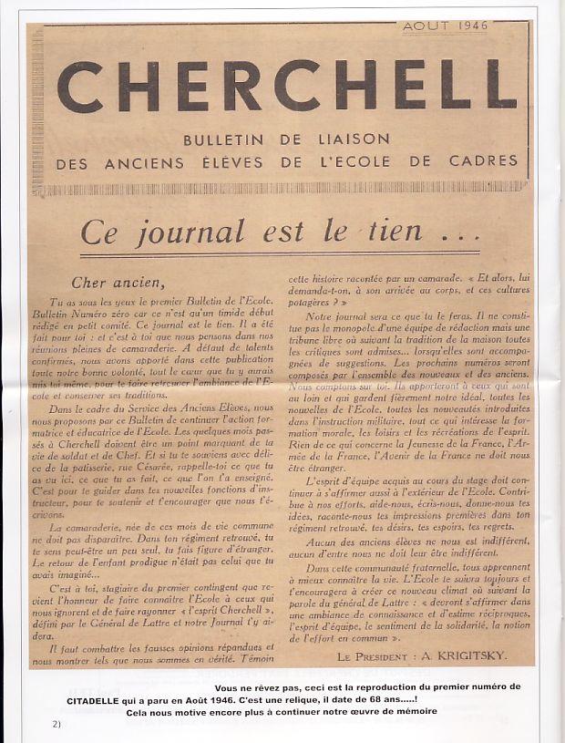 """Bulletin CITADELLE n°22 de mars 2014 """"Tout est dit""""   Page2_10"""
