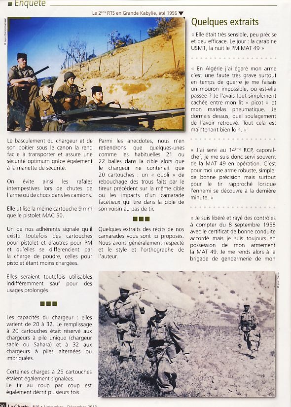 """Le PM """"MAT 49"""" de la Manufacture d'Armes de Tulle Pm410"""