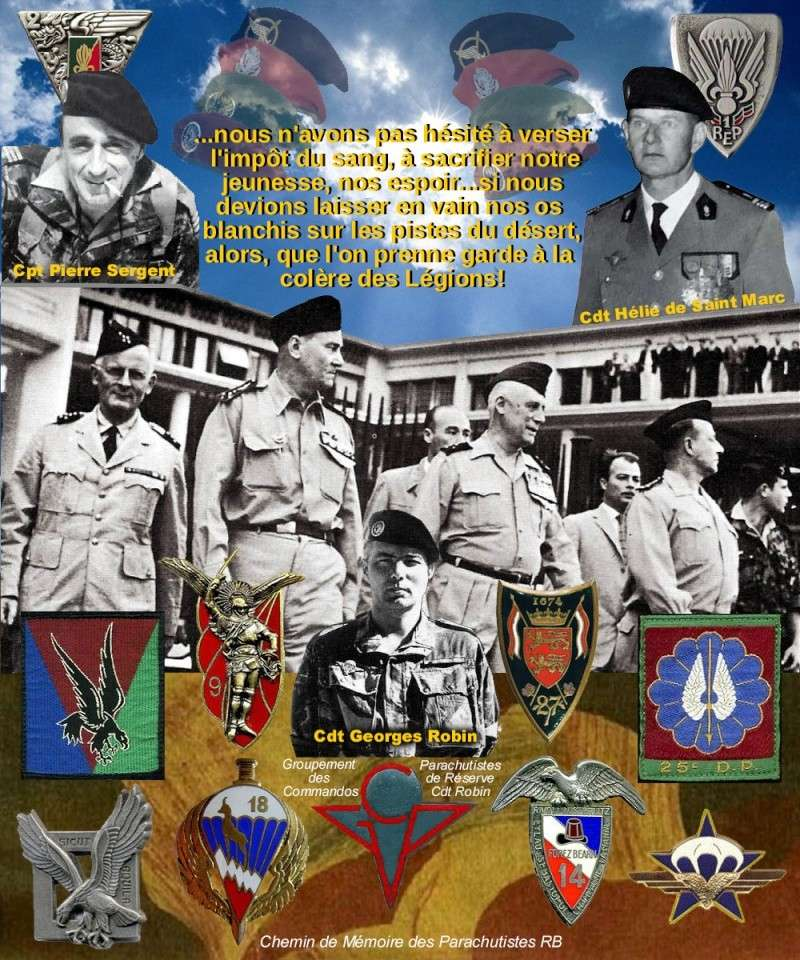 PUTSCH Alger avril 1961: Pourquoi les Parachutistes ont participé à la rebellion, d'autres armes avaient également paticipé: REC, Infanterie...  Putsch10