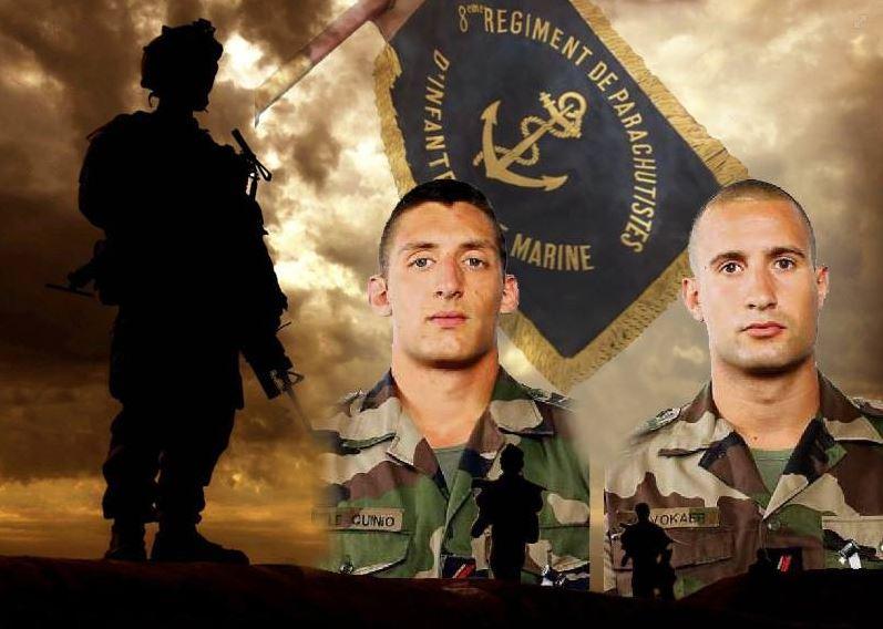 Opération SANGARIS parachutistes de 1ère classe LE QUINO et VOLKER du 8ème RPIMa tués en opération