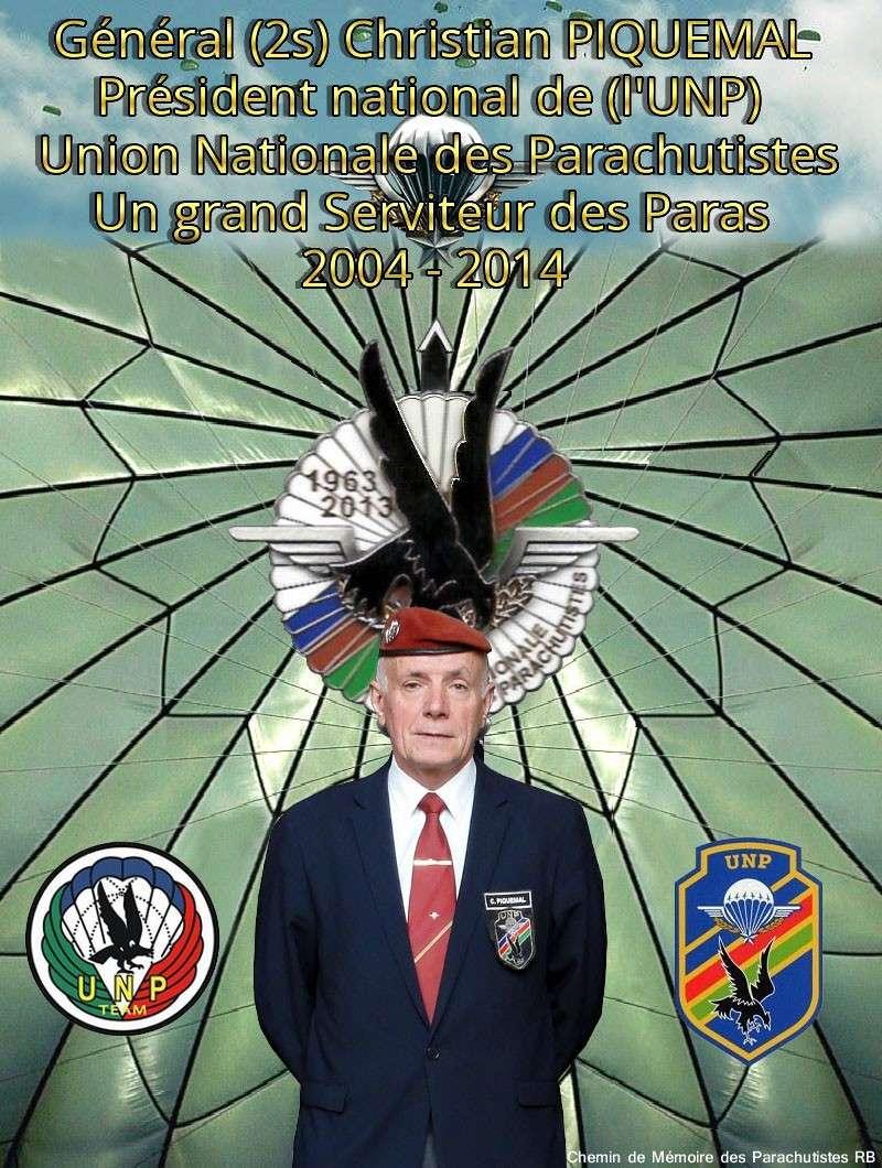 Au nom de tous nos camarades, merci mon général - Christian Piquemal Président  UNP 2004-2014 Sans_710