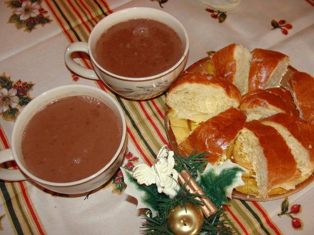 Le chocolat première communion (Chocolat antillais à la cacahuète) Recett10