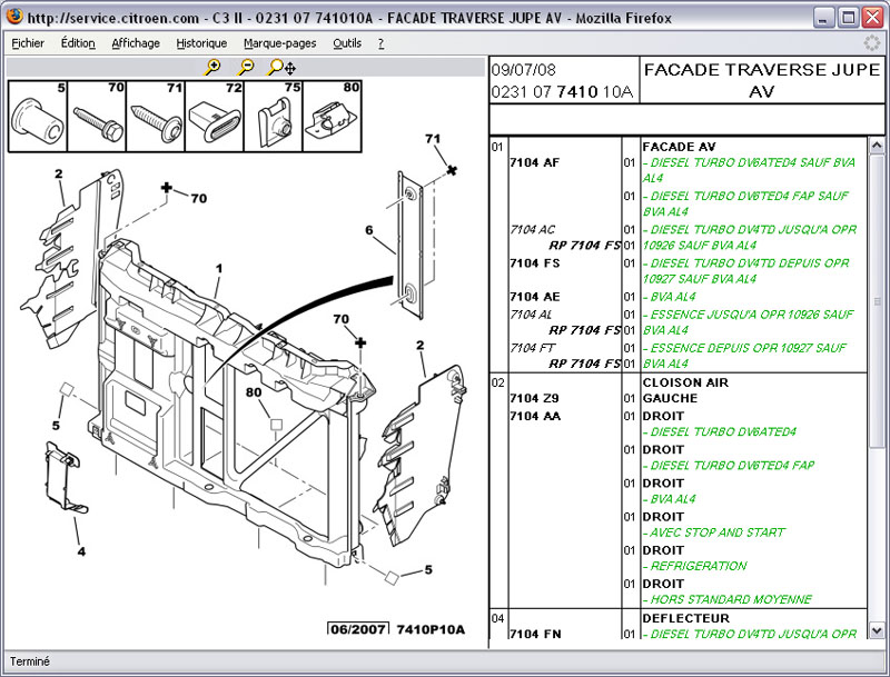Service box PSA : toutes les pièces de votre auto. Citroe11
