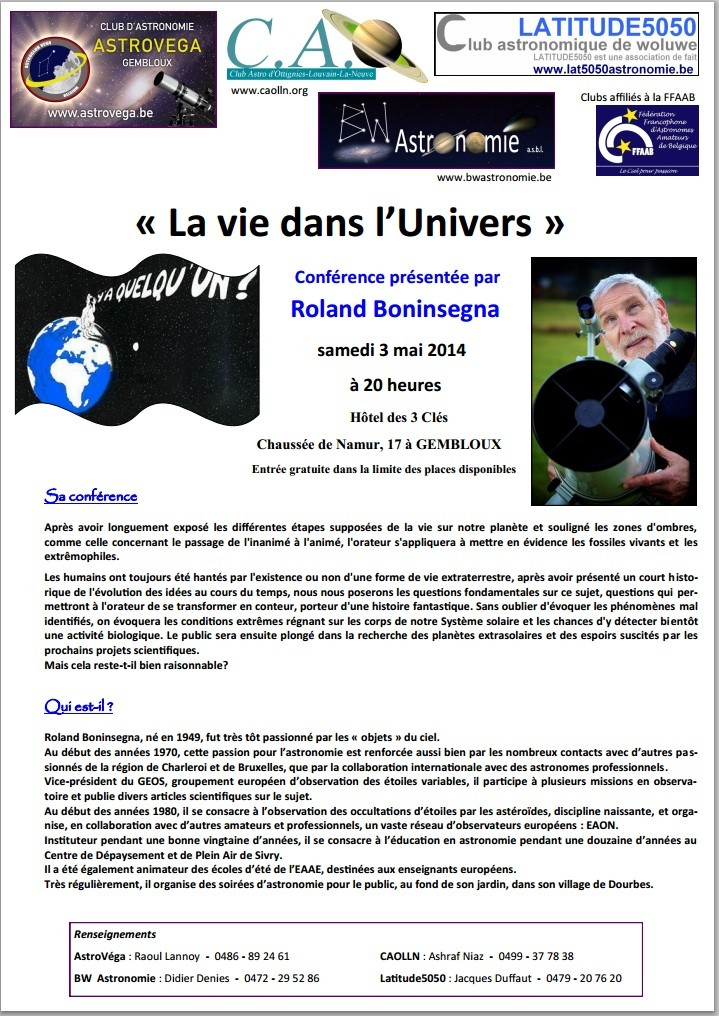 Conférence Roland Boninsegna le samedi 3 mai à 20 heure Roland10