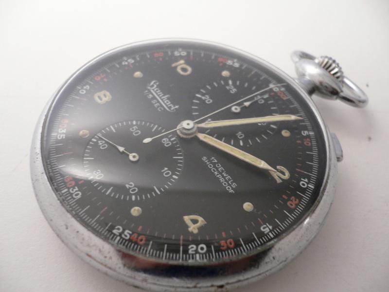 Un vieux chrono Hanhart de l'armée allemande P1000410