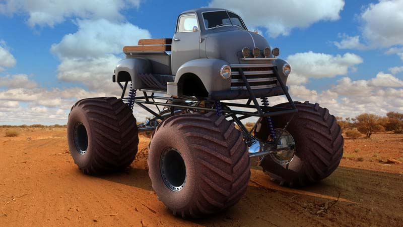 """CHEVY 1948 COE tanker Monster Truck  """"RUSTY"""" !!!! Terminé Idea10"""