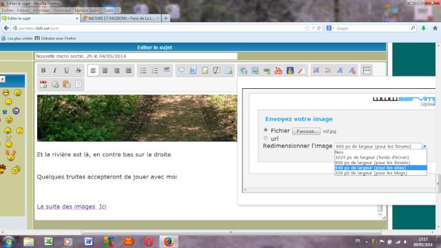 Comment inserer  une photo à 640 PX en une touche de clavier 640px10