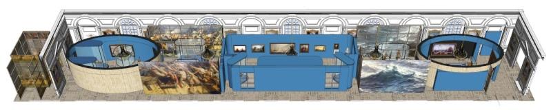 Maquettes de la Marine impériale, Grand Trianon, juin 2014 2014-011