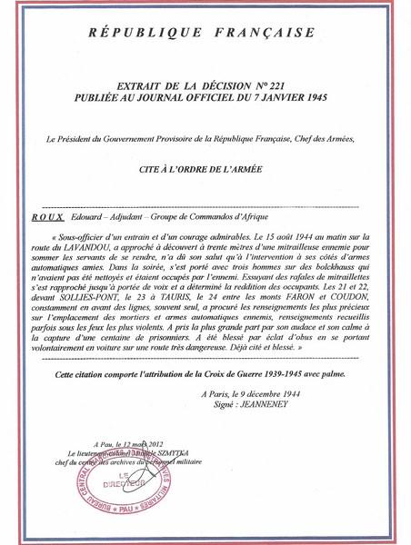 citations a/c Roux 39/45 Citati15