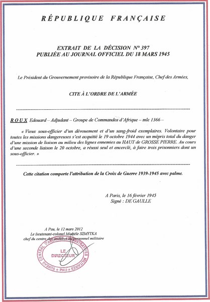 citations a/c Roux 39/45 Citati17