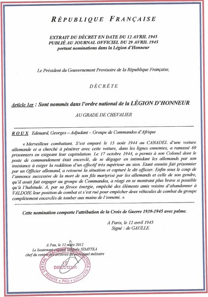 citations a/c Roux 39/45 Lagion11