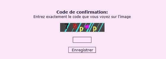 pourquoi saisir un code lors d'envoie de méssages Captur72